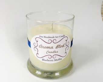 Blueberry Muffin Scent 10oz Soy Candle