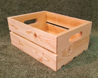 """Solid Wood Crate 10""""x 14""""x 6.5"""""""