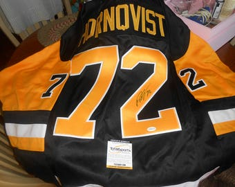 PATRIC HORNQVIST SIGNED pittsburg penqions custom pro-style jersey/totalsports