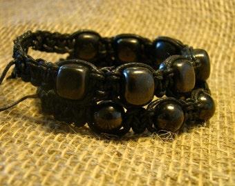 """Shungite set bracelets """"Shambala"""" 2 pieces of Karelia."""