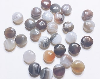 Coin shaped Botswana Agate Beads
