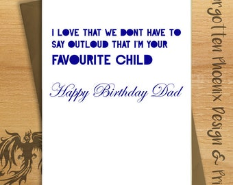 Handmade Greetings Card -  Fathers Day Funny Card