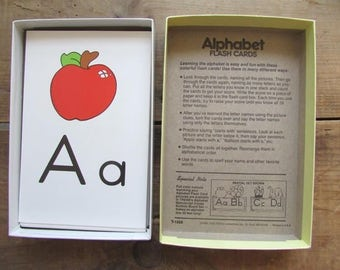 Alphabet Flash Cards Vintage Ages 5 and Up Trend Enterprises Flashcards