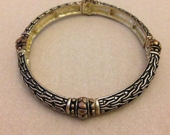 Vintage 4-Bead Metal Bracelet