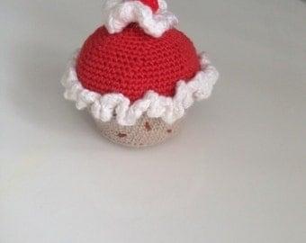 Crochet muffin cupcake for shop children's kitchen