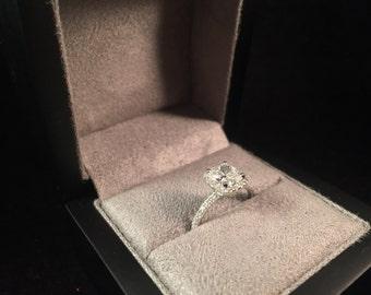 1.50ct Halo Cushion Engagement Ring