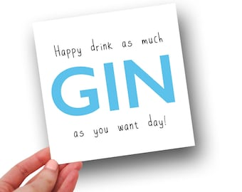 HAPPY GIN DAY // Birthday Card
