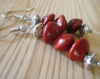 Red Lucky Seed Earrings