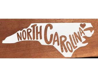 North Carolina Vinyl Decal