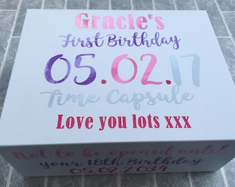 First Birthday Time Capsule Memory Box