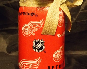 Detroit Red Wings Mason Jar