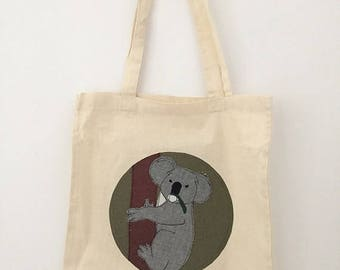 tote bag personalized animal AB