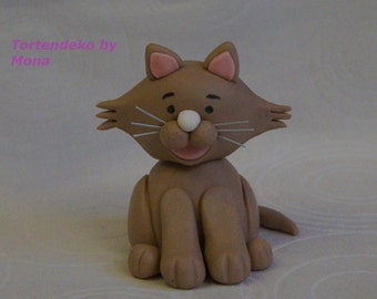 Unconventional cake Aufleger fondant sugar figure cat