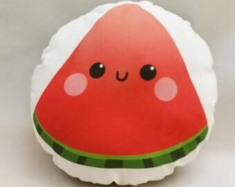 "Cute Watermelon Slice 10"" Cotton Pillow"