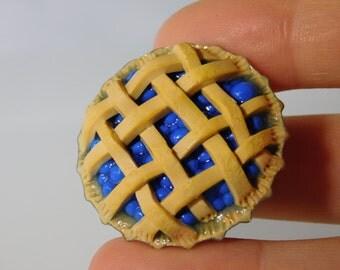 Lattice Blueberry Pie Magnet