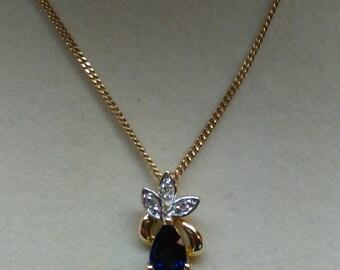 Vintage Sapphire and Diamond Necklace