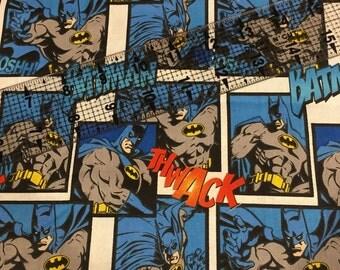"""Batman cotton fabric end of bolt 23"""" piece"""