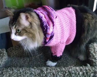 Knit Dog Cat Goat Sweater Hoodie Coat