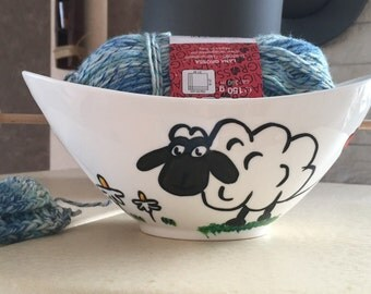 """Yarn Bowl ' knitting is my therapy"""