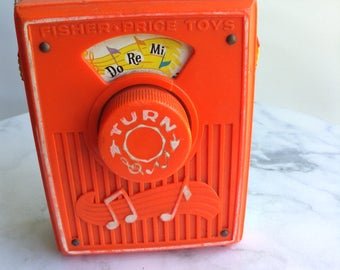 Vintage Fisher Price Do Re Me Music Toy Radio
