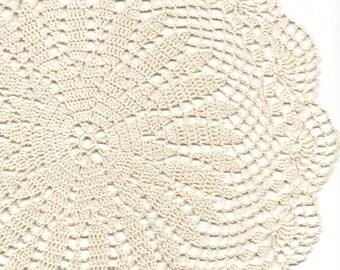 Vintage Handmade Crochet Doily Lace Lacy Doilies Wedding Decoration Home Decor Flower Mandala Dream Catcher Crocheted Pineapple Round Cream