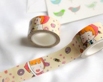 Cute Girl Washi Tape