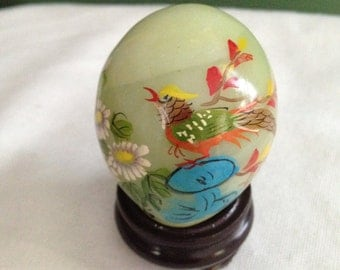 Hand Painted Stone Egg