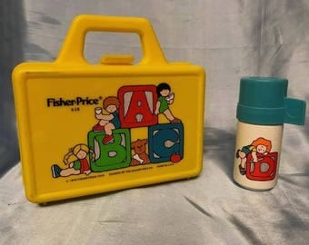 Fisher Price Lunch Box Thermos 1979 Quaker Oats Vintage