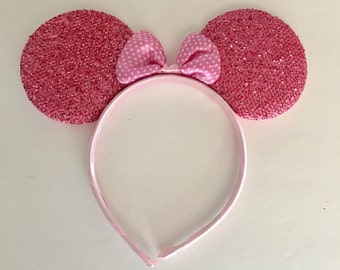 Pink Minnie Mouse Ears, Mickey Mouse Ears, Minnie Ears Headband, Minnie Birthday Party Favor, Disney Cruise, Minnie, Disney Vacation, Disney