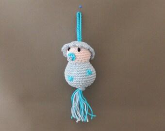 Amigurumi gelukspoppetje Baby jongen of meisje, babyshower