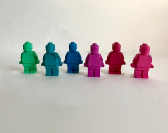 LEGO Crayons Set of Six Spring // LEGO Party Favors // LEGO Birthday //