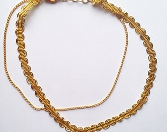 Double Gold Choker