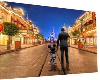 Walt and Mickey at Disneyworld