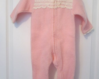 Baby Girl's Pink Snowsuit