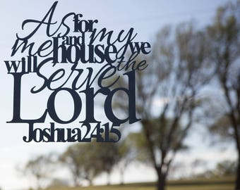Bible Verse Metal Home Decor Sign Joshua 24:15
