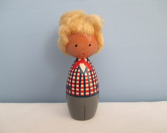 "Vintage Wooden Doll from Estonia ""Eesti""   ~   FREE SHIPPING!"