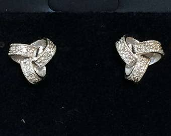 Sweet 925 Knot Silver Earrings