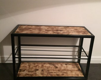 Hand made shoe rack storage - made to order - custom sizes and finishes