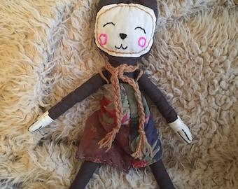 Cloth Doll - Sundown the Cat