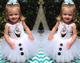 Kids Snowman Consume with Tutu Skirt