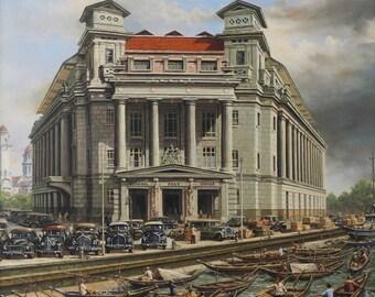 Singapore Fullerton Historic Building Oldays Scene