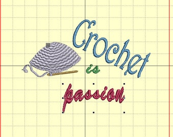 "Embroidery file ""Crochet is passion"""