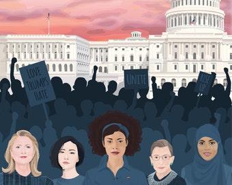 Bundle - Women's March on Washington - 3 Digital Files