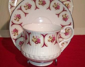 Vintage Fenton bone china trio