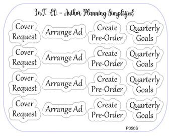 Author Planner Stickers - Word Sheet 15