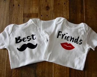 Twins Best Friends onesies