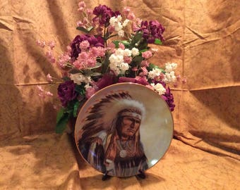 "Strength Of The Sioux 8.5"" Collector Plate by Perillo"