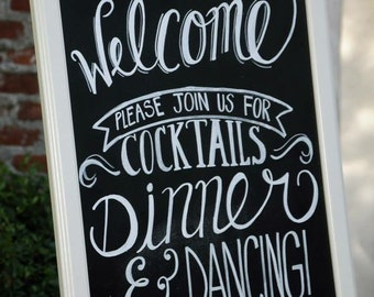 Custom Chalkboard wedding welcome sign