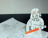 Toy Darth Vader ONLY 99 CENTS, Paper toys, Coloring, Darth Vader, Kids birthday, Lego Darth Vader, Coloring pages, Darth Vader statue, Lego