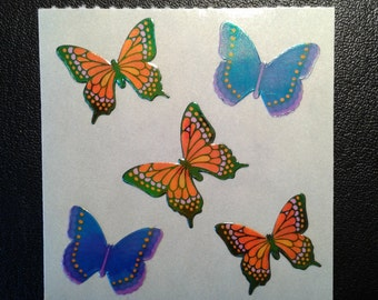 Sandylion Stickers Scrapbooking Vintage Pearly Butterfly, Butterflies   (1 mod)